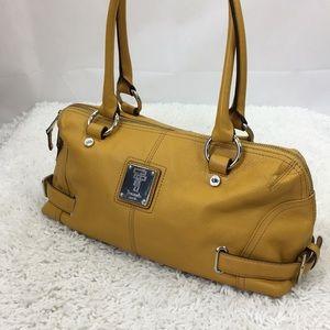 Tignanello Handbag Shoulder Bag Mustard